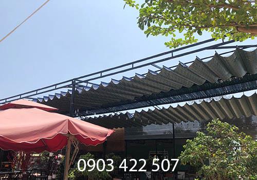 Thi công mái hiên di động tại Quy Nhơn Bình Định