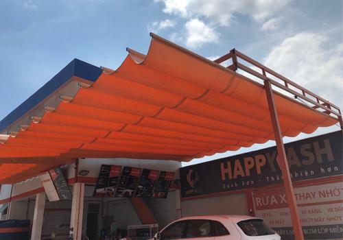 Thi công mái hiên cửa hàng rửa xe  Đà nẵng