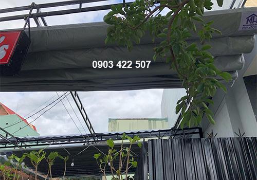 Thi công mái hiên di động quán cafe Quy Nhơn